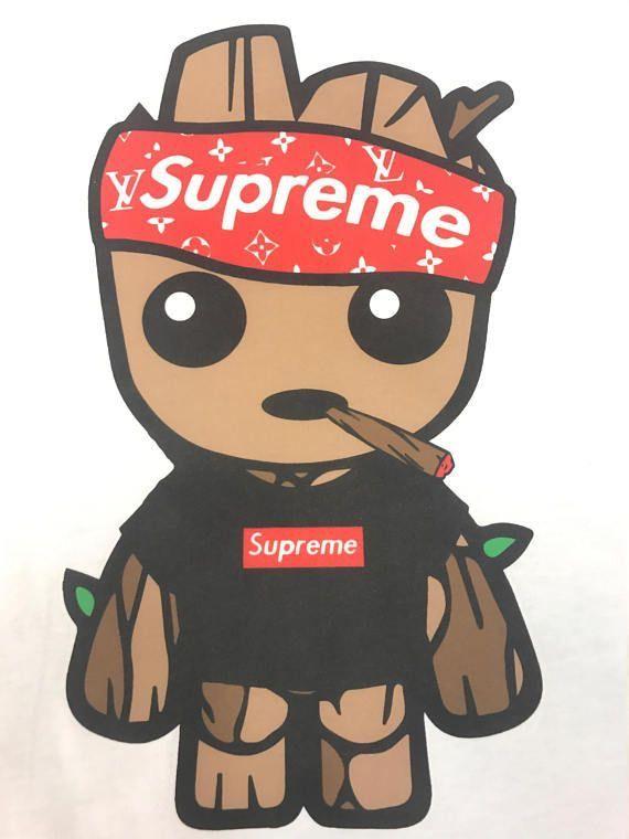 Wallpaper Supreme Cartoon Characters