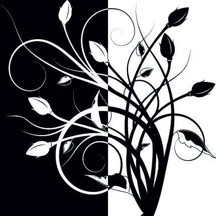 Черно-белые узоры