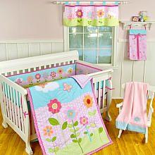 Sumersault Rebecca 7 Piece Crib Bedding Set