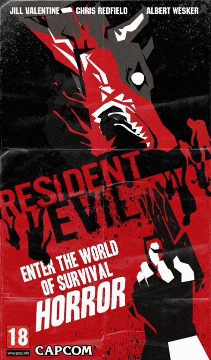 resident evil retro poster