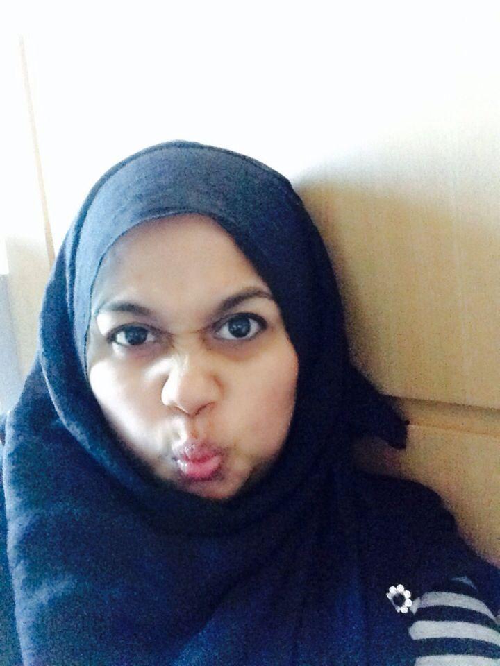 Black hijab...