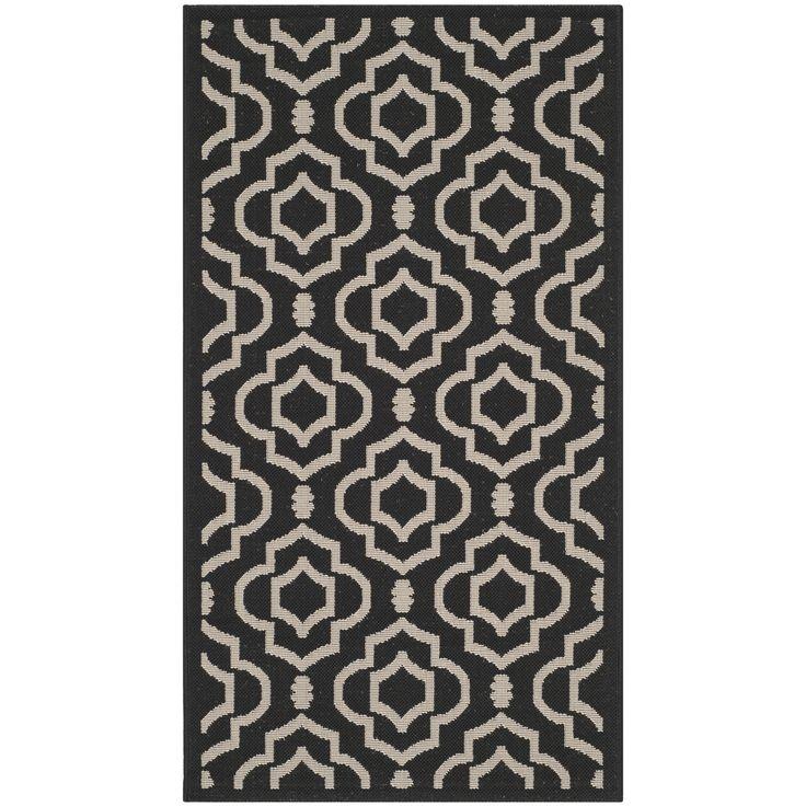 Safavieh Stain-resistant Indoor/ Outdoor Courtyard / Beige Rug