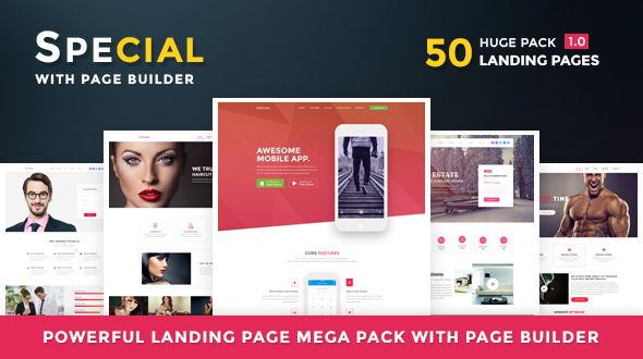 nice Unique - Landing Web page HTML Pack With Web page Builder (Advertising)