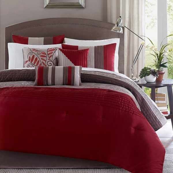 red and brown comforter - Google Search