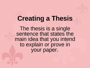 Creating a Thesis for a Research Paper
