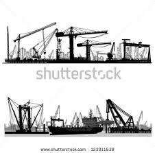 Kuvahaun tulos haulle silhouette harbour crane