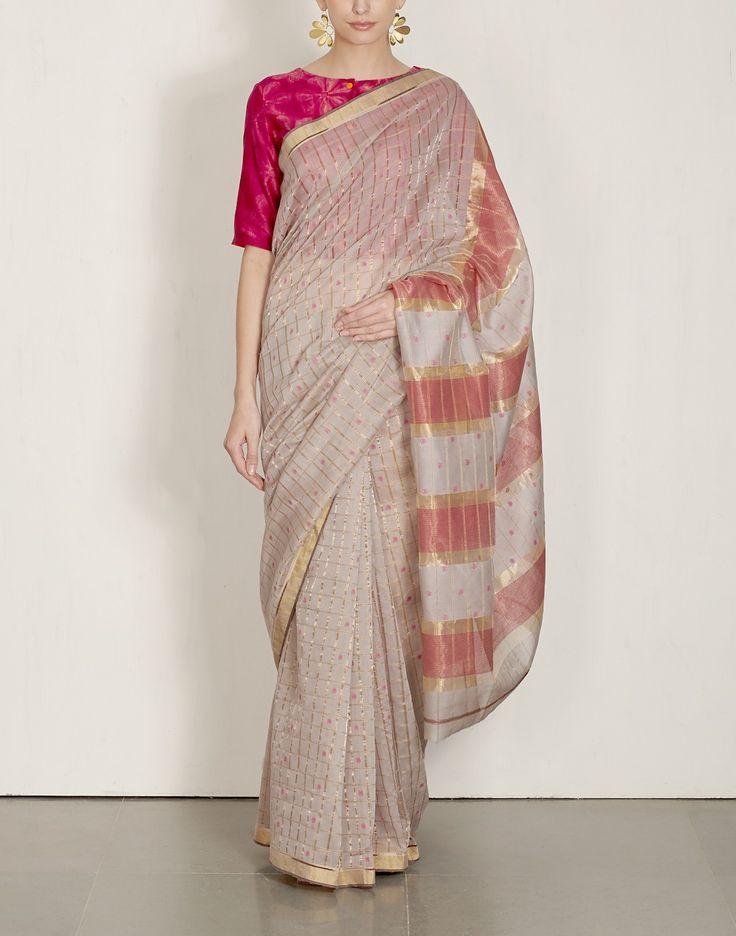 Striped Pallu Sari-Rehwa