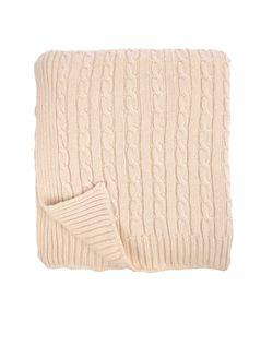 Cotton Cable Rib Throw