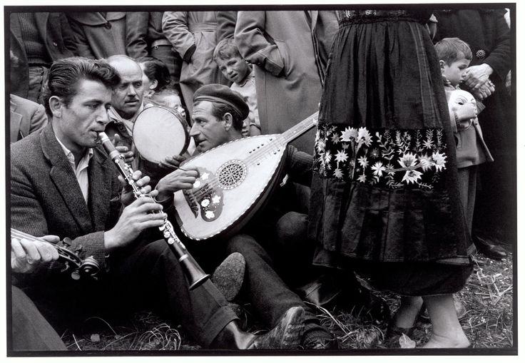 """Greece. Thessaly. 1964. Musicians at a festival. """"A Greek Portfolio""""  © Costa Manos/Magnum Photos"""