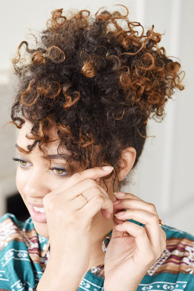 Fix ~rogue~ pieces in the front with a curling iron. | 14 Curly Hair Tips That Actually Work IRL