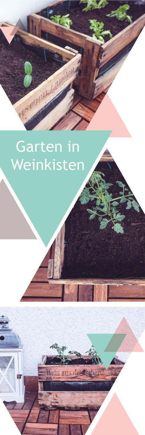 Balkon-Garten aus Weinkisten selbst machen – lisa Imwildenwesten