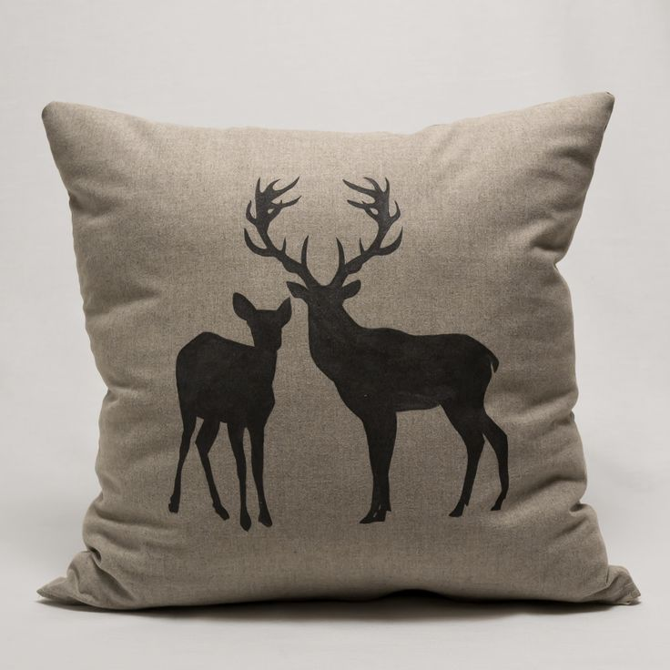 "Pillow ""Stag with Deer""  https://www.facebook.com/media/set/?set=a.512387698876912.1073741837.510724315709917&type=1"