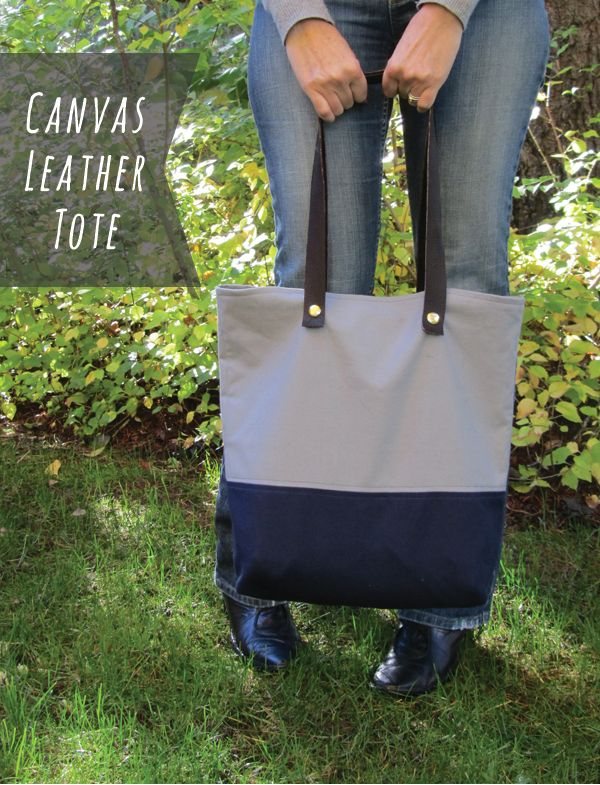 joyofallcrafts - home - DIY // Canvas Leather Toten (tout en cuir, gold et noir?)