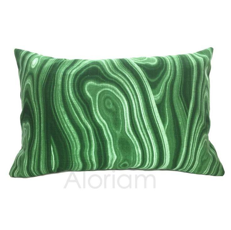 Robert Allen Green Malachite Geology Lumbar Throw Pillow Cushion Zipper Cover Robert allen ...