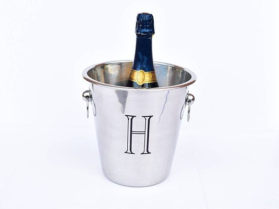 Personalized Wine Bucket, Engraved Champagne Bucket, Custom Wine Chiller, Monogram Ice Tub, Wedding Gift, Drink Cooler, Beverage Tub, Cooler