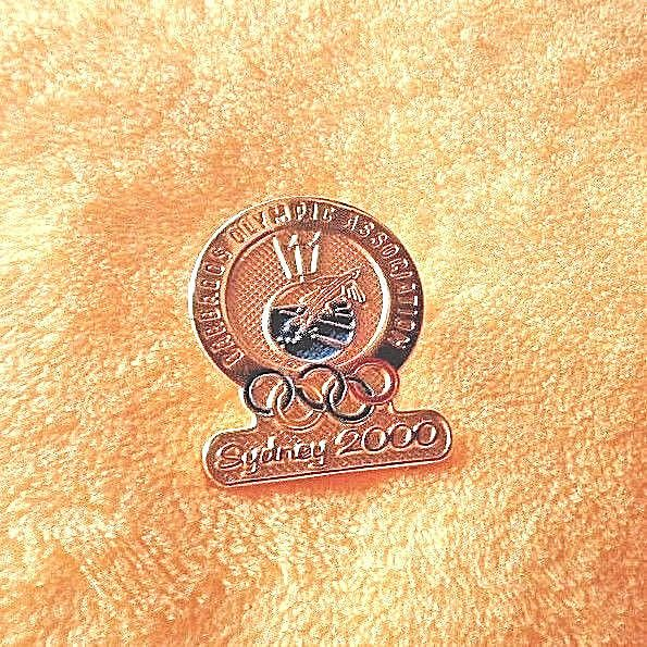 Barbados Olympic Association Sydney 2000 Pin Pinback