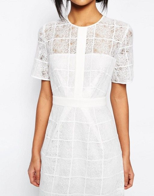 Whistles | Whistles Ailsa Placement Lace Dress in White