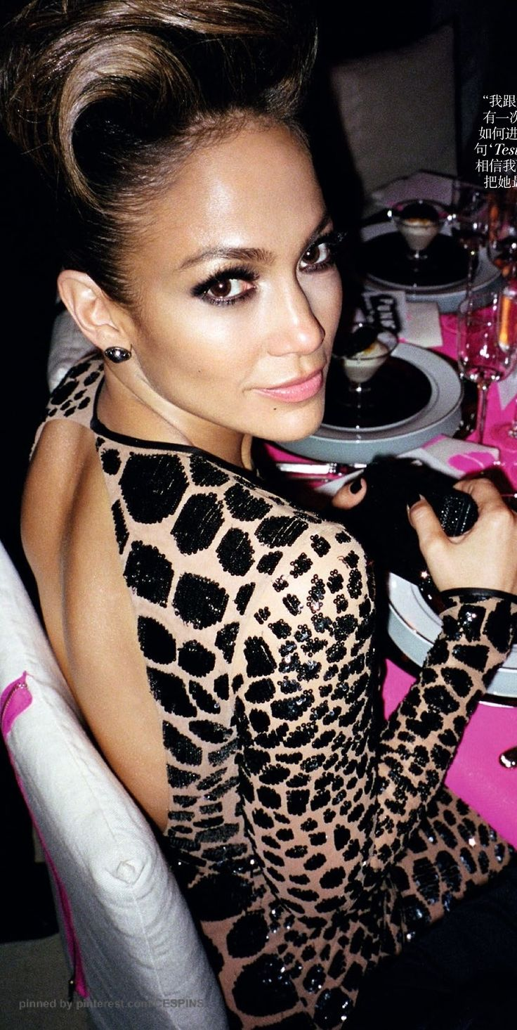 Jennifer Lopez...fabulous 40's!  Women are at their best in their 40s~  Pay attention!