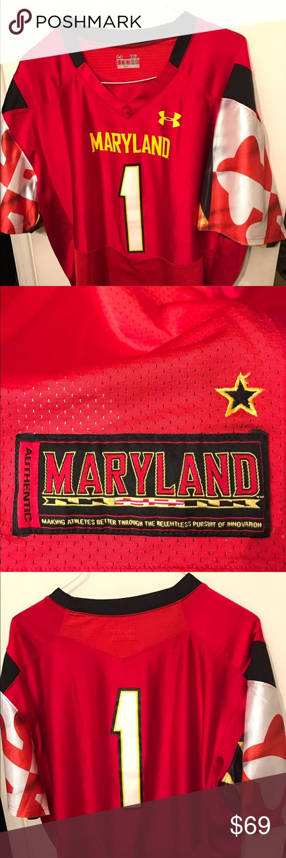 Maryland Under Armour jersey in excellent cond Flawless under armor Maryland University authentic jersey Under Armour Other