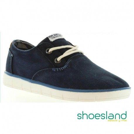 Pepe Jeans Zapatos de Cordones Race Basic Azul Oscuro EU 33 HNOQ9