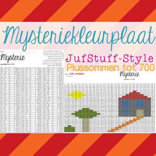 Juf-Stuff: Mysterie... geweldige puzzel! wat is het antwoord op de som? Vul dit in op de puzzel en er ontstaat een ingekleurde kleurplaat