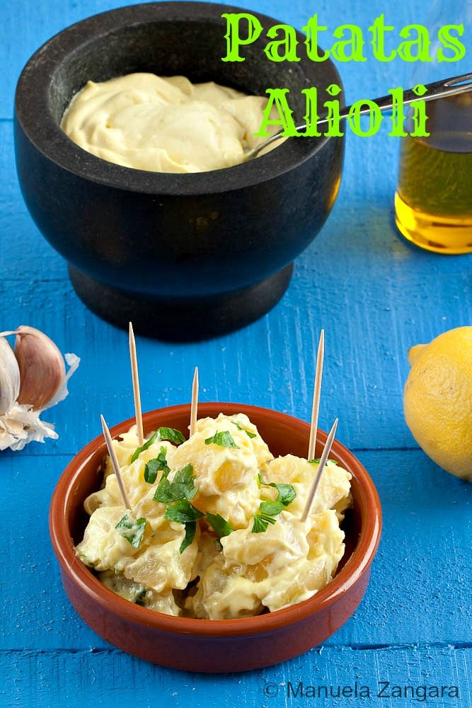 Patatas Alioli - a delicious Spanish tapa or side dish, perfect for both meat and fish!