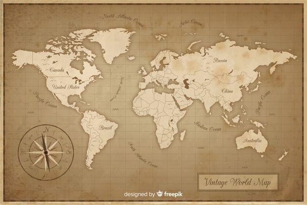 carte du monde antique Téléchargez Carte Du Monde Antique Et Vintage gratuitement em 2020