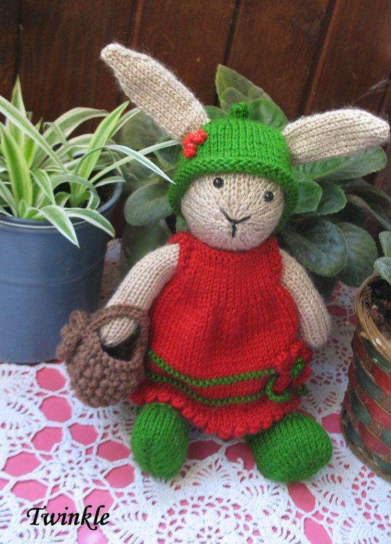 Twinkle      Handmade knitted bunny girl by dollsandbunnies
