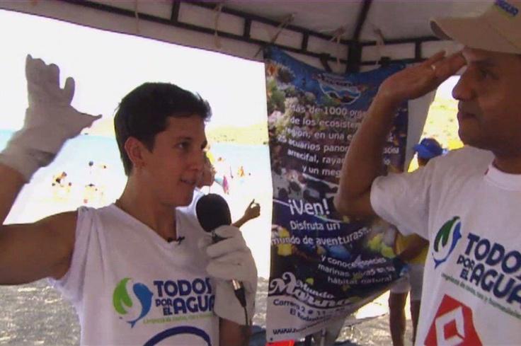 Nuestro presentador estuvo en Santa Marta haciendo una limpieza en las playas. Vean en qué consistió esta tarea.