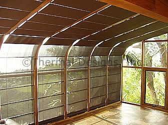 Four Seasons Sunroom   Motorized Screen Shades