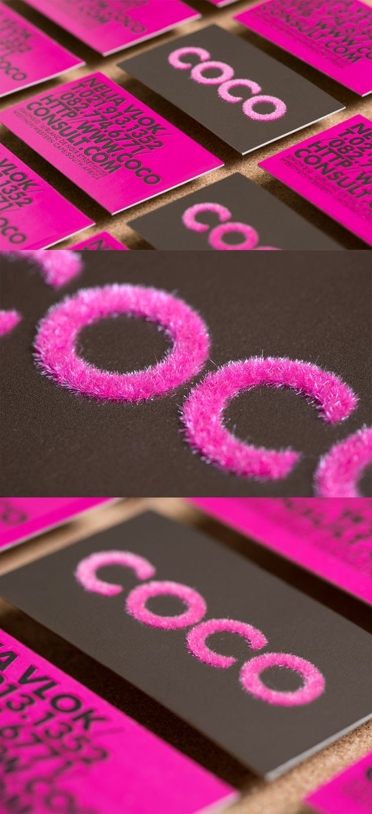Coco Business Cards by Creating a Storm