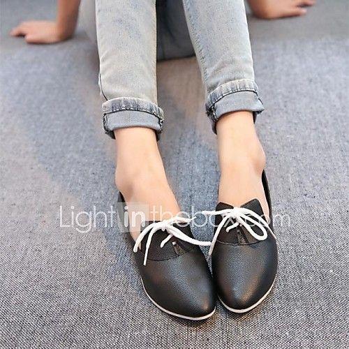zapatos de las mujeres señalaron toe oxfords planos del talón con los zapatos con cordones más colores disponibles 2017 - $373.36