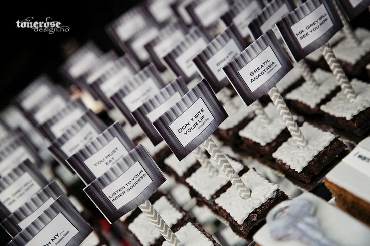 Fifty shades of grey free printable sweet table brownies