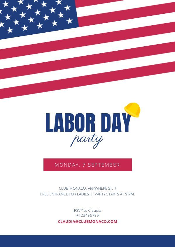 Labor Day Flyer Template Flyer Template Free Flyer Templates Flyer