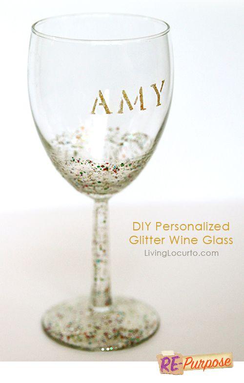 Diy Glitter Wine Glass Easy Craft Tutorial Crafts