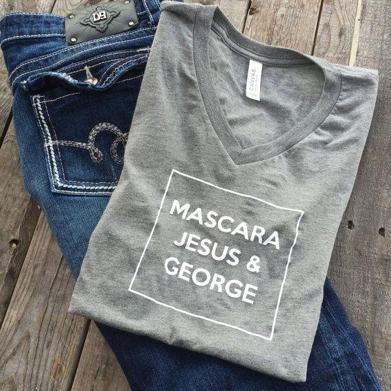 Mason Chix, George Strait, T-shirt, Texas, Country, Southern, Christian, tee, mascara, Jesus, boutique