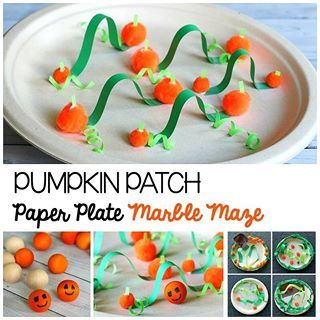 A fun Halloween STEM challenge pumpkin patch paper plate marble mazes So cool seeing all the kids designs More info on the blog Link in profile