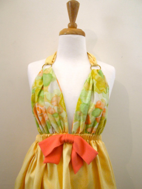 The Autumn Song Babydoll Dress by missmittensvintage on Etsy, $55.00