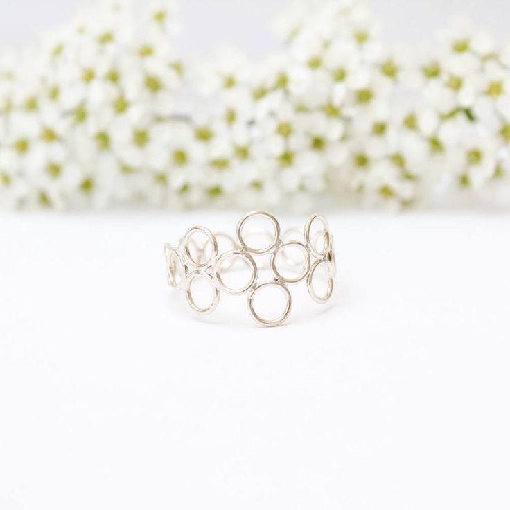 Rag and Bottles Mini Circles Diamond Ring by RagandBottle on Etsy