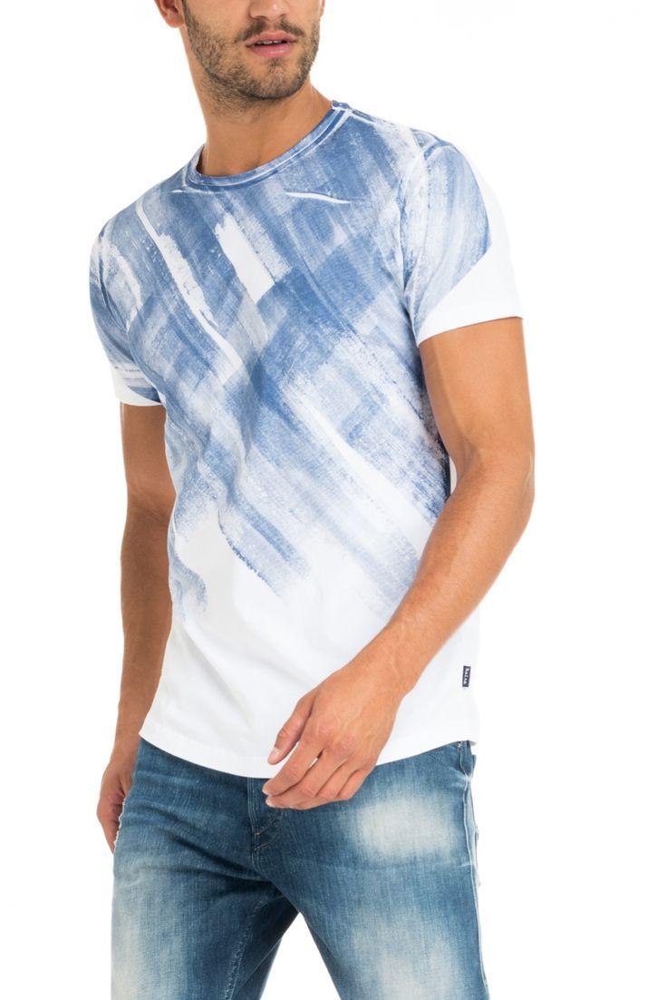 T-shirt com gráfico localizado | 117724 Branco | Salsa