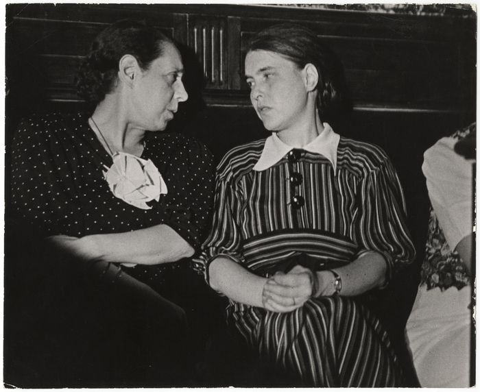 [Margarita Nelken and Anna Seghers at the Second International Congress of Writers for the Defense of Culture, Valencia] July 1937, Gerda Taro.