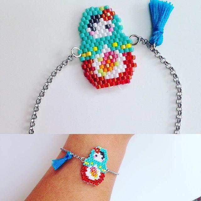 #poupeerusse #jenfiledesperlesetjassume #brickstich #perles #miyuki #creation #bracelet #bijoux