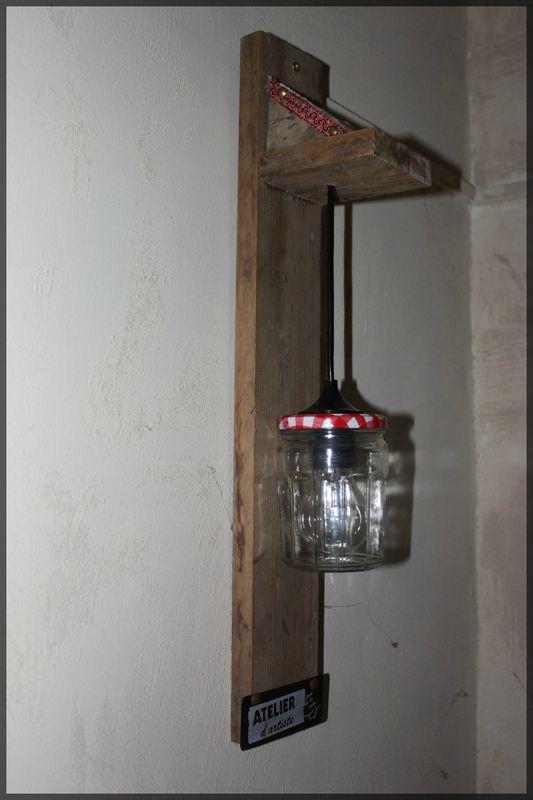 applique bocal lampe a faire pinterest appliqu s. Black Bedroom Furniture Sets. Home Design Ideas