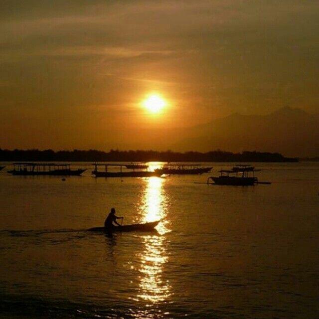 Sunrise at Gili Trawwangan, Lombok