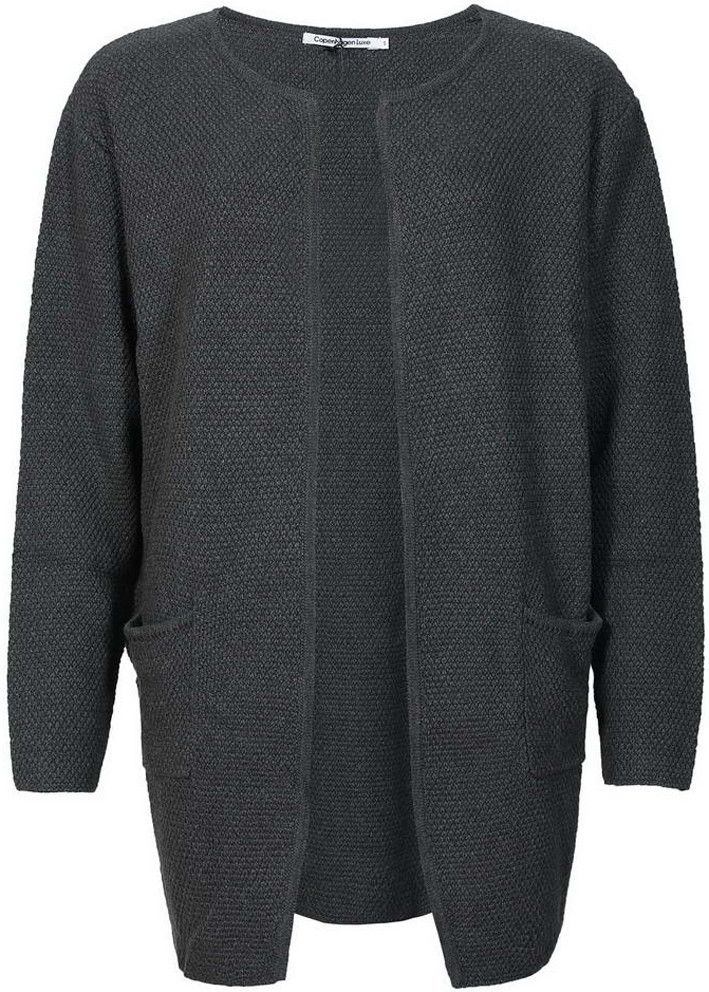 Copenhagen Luxe Cardigan mørkegrå 6348 Pearlknitted Cardigan dark grey – Acorns