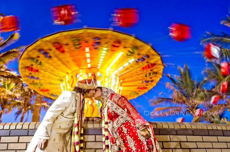 Hindu Bridal couple at the Fairground