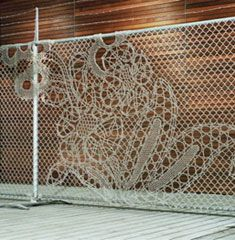 Lace Fence by DemakersvanLace Pattern, Lace Fence, Diy Crafts, Street Art, Free People, Fence Art, Chains Link Fence, Fence Design, Dutch Design