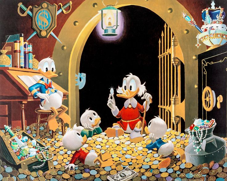 This Dollar Saved My Life at Whitehorse, illustration by Carl Barks