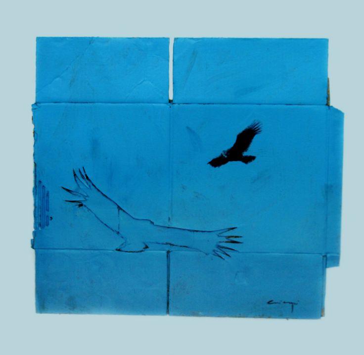 Felipe Cusicanqui - Condor - Acrílico sobre cartón
