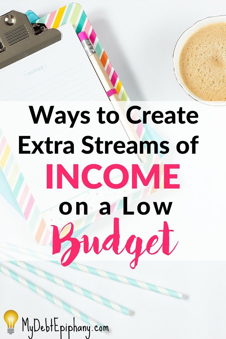 The average millionaire has seven streams of income. If you want to increase your income or build wealth, you'll have to create extra streams of income. Here are 4 ways to create extra streams of income while on a low budget.
